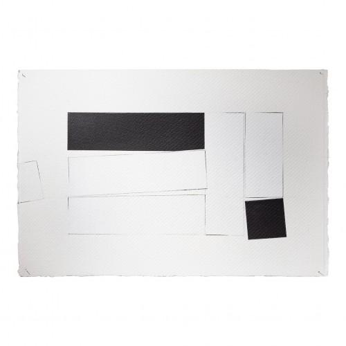 """<span class=""""nome_artista"""">Giovanni Campus <p class=""""nome_opera"""">Tempo in processo. Rapporti - Misure - Connessioni</p> <p>2020</p> <p class=""""info_opera"""">Acrilico grafite su carta da 640gr</p> <p>38x50cm</p></span>"""