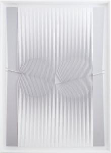 """<span class=""""nome_artista"""">Alberto Biasi <p class=""""nome_opera"""">VARIAZIONE DI POLITIPO</p><p class=""""info_opera"""">rilievo in tela su tavola <br> 1978, cm 165 x 118 x 3</p></span>"""