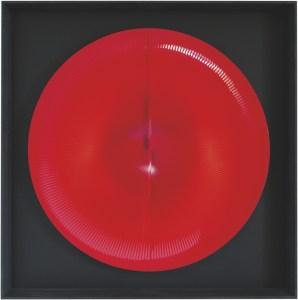 """<span class=""""nome_artista"""">Alberto Biasi <p class=""""nome_opera"""">O DI GIOTTO</p><p class=""""info_opera"""">acrilico e pvc su tavola, <br>1991, diametro cm 85</p></span>"""