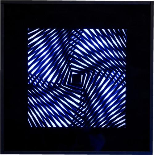 """<span class=""""nome_artista"""">Grazie Varisco<p class=""""nome_opera"""">Roto square</p><p class=""""info_opera"""">oggetto cinetico luminoso - 1965-66, cm 50x50</p></span>"""