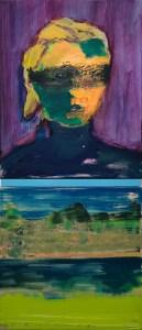 "<span class=""nome_artista"">Andreas Waldmeier<p class=""nome_opera"">Portrait mit Augenbind e Landschaft im Fahren</p><p class=""info_opera"">olio su lino <br>2018, 50x40 cm, 40x40 cm"