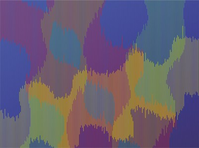 """<span class=""""nome_artista"""">Sandi Renko<p class=""""nome_opera"""">METRISGRID 119 </p><p class=""""info_opera"""">aerografo su lastra sintetica fresata2019, 109 x 145 cm</p></span>"""