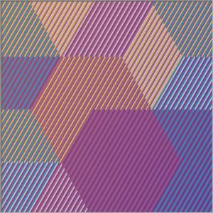 "<span class=""nome_artista"">Sandi Renko<p class=""nome_opera"">TRIKVADRAT C216</p><p class=""info_opera""> aerografo su canneté acrilico<br>2016, 25 x 75 cm</p></span>"